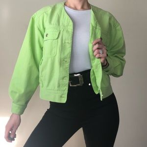 💚Vintage Neon Sea Foam Green Jacket 💚